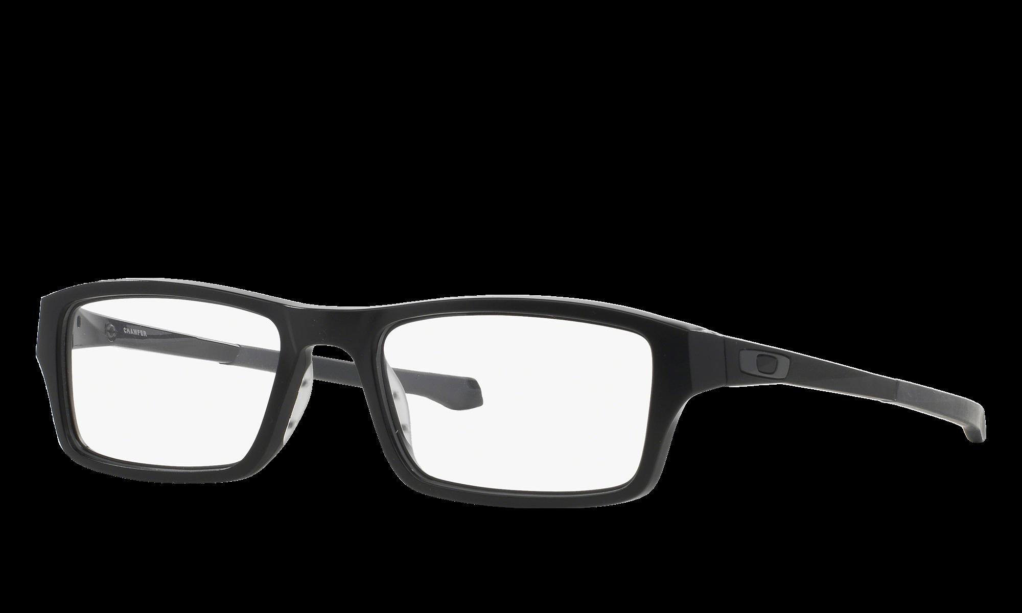Oakley CHAMFER Black Eyeglasses | Glasses.com® | Free Shipping