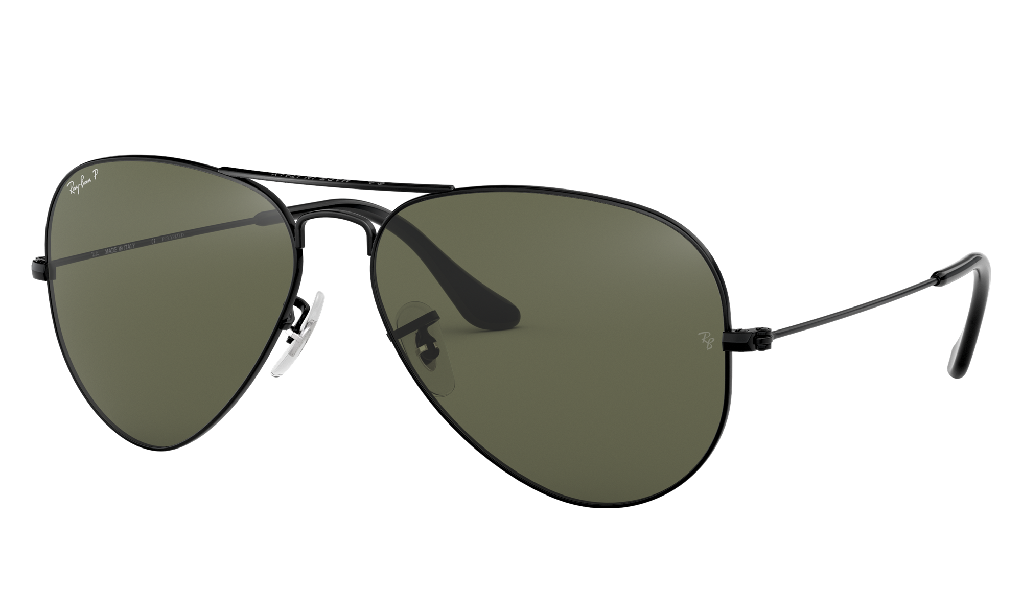 Easy 1940s Men's Fashion Guide Ray-Ban Unisex Aviator Classic Black Size Standard $204.00 AT vintagedancer.com