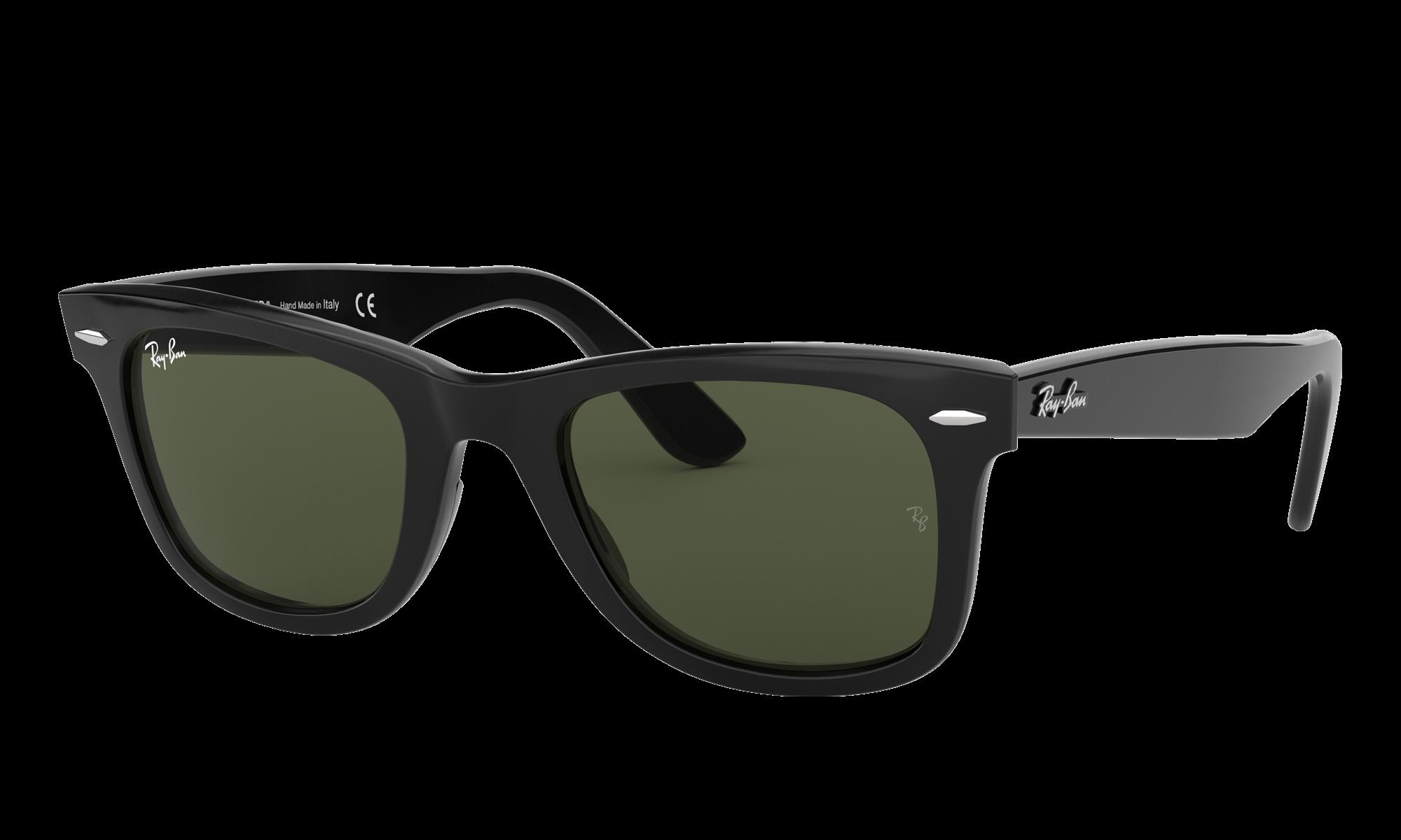 Retro Sunglasses | Vintage Glasses | New Vintage Eyeglasses Ray-Ban Unisex Wayfarer Black Size Standard $154.00 AT vintagedancer.com
