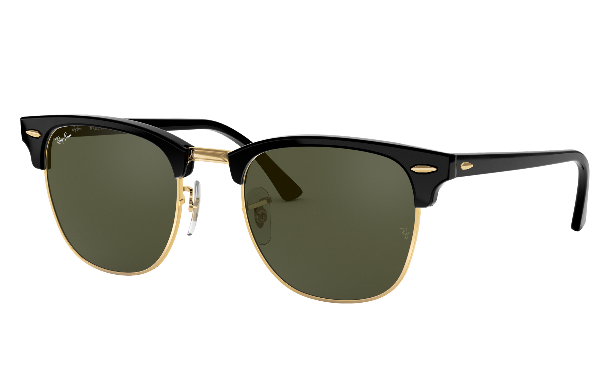 1960s Men's Clothing Ray-Ban Unisex Clubmaster Classic Black Size Standard $154.00 AT vintagedancer.com