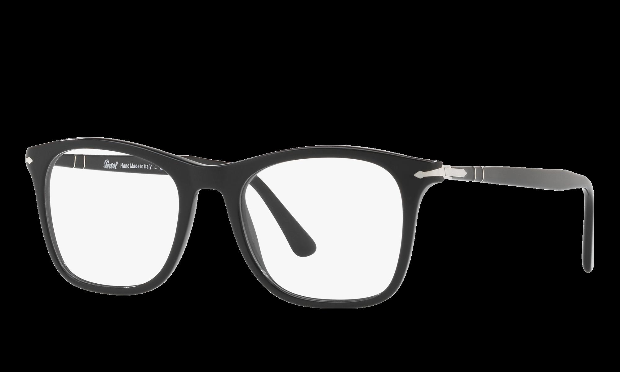 Persol PO3188V Black Eyeglasses | Glasses.com® | Free Shipping