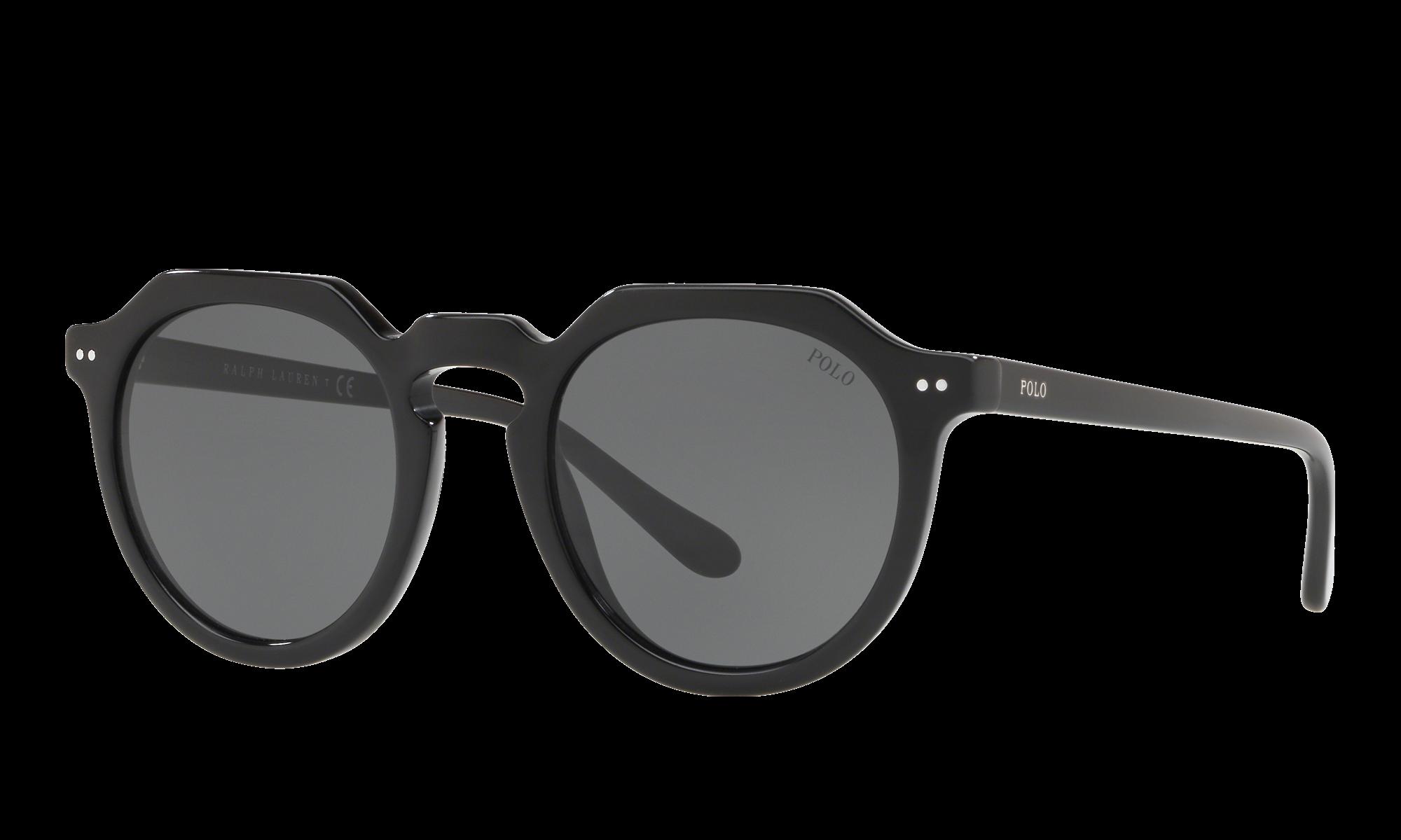 1930s Glasses and Sunglasses History Polo Ralph Lauren Unisex Ph4138 Black Size Standard $79.00 AT vintagedancer.com