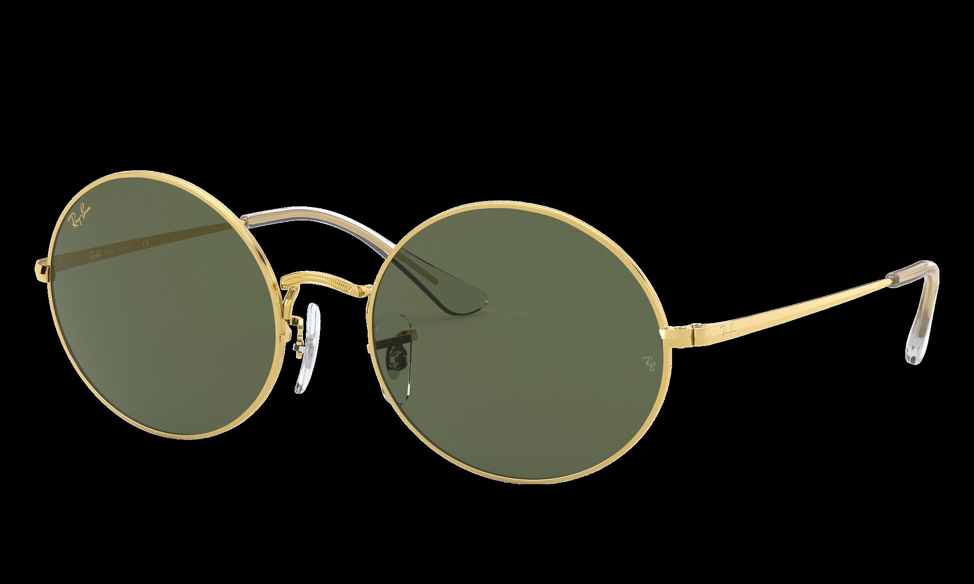1960s Sunglasses | 70s Sunglasses, 70s Glasses Ray-Ban Unisex Oval 1970 Legend Gold Gold Size Standard $154.00 AT vintagedancer.com
