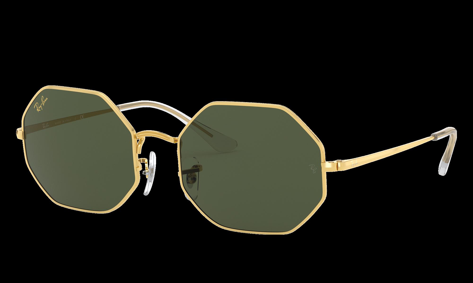 1960s Sunglasses | 70s Sunglasses, 70s Glasses Ray-Ban Unisex Octagon 1972 Legend Gold Gold Size Standard $154.00 AT vintagedancer.com