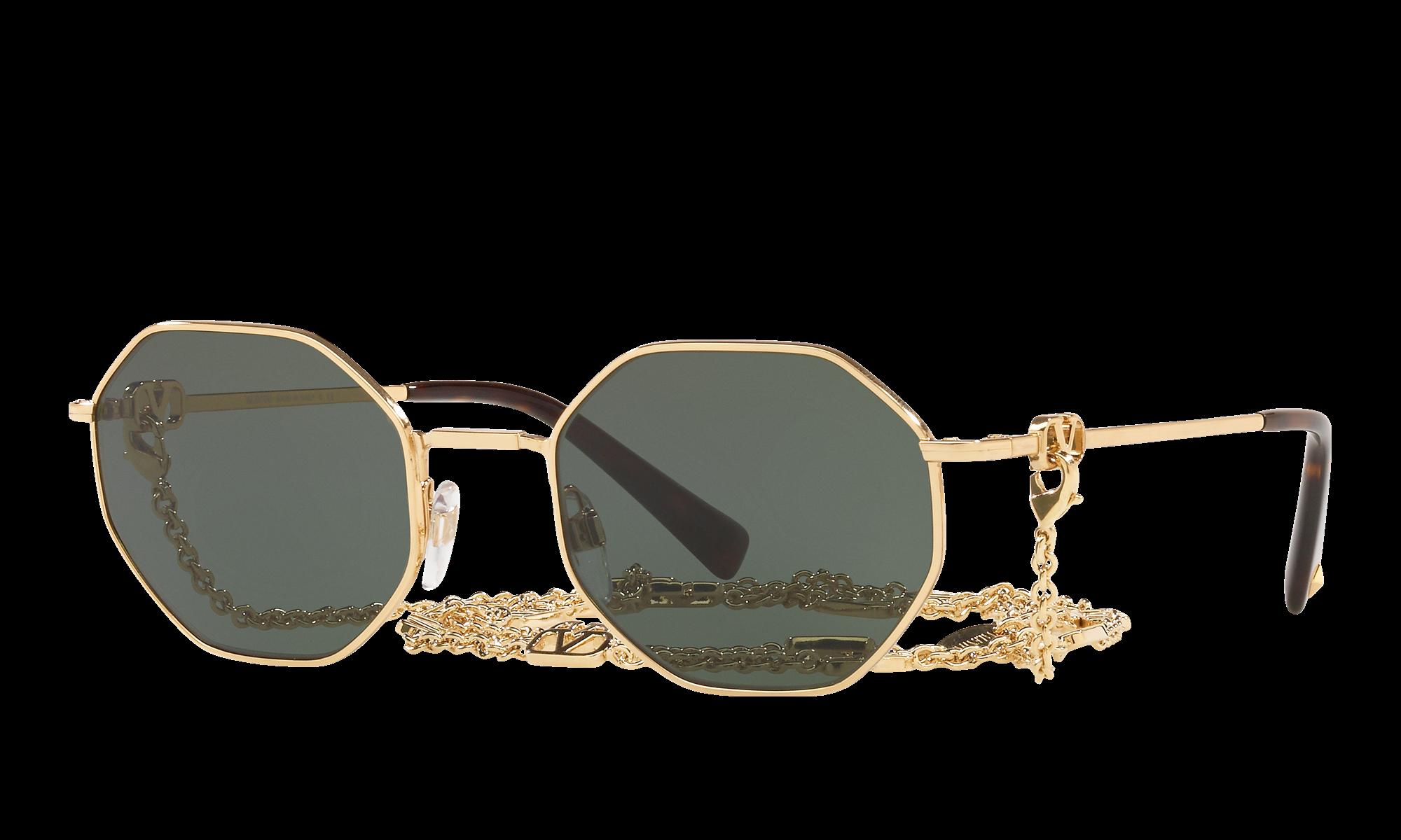 1960s Sunglasses   70s Sunglasses, 70s Glasses Valentino Unisex Va2040 Gold Size Standard $559.00 AT vintagedancer.com