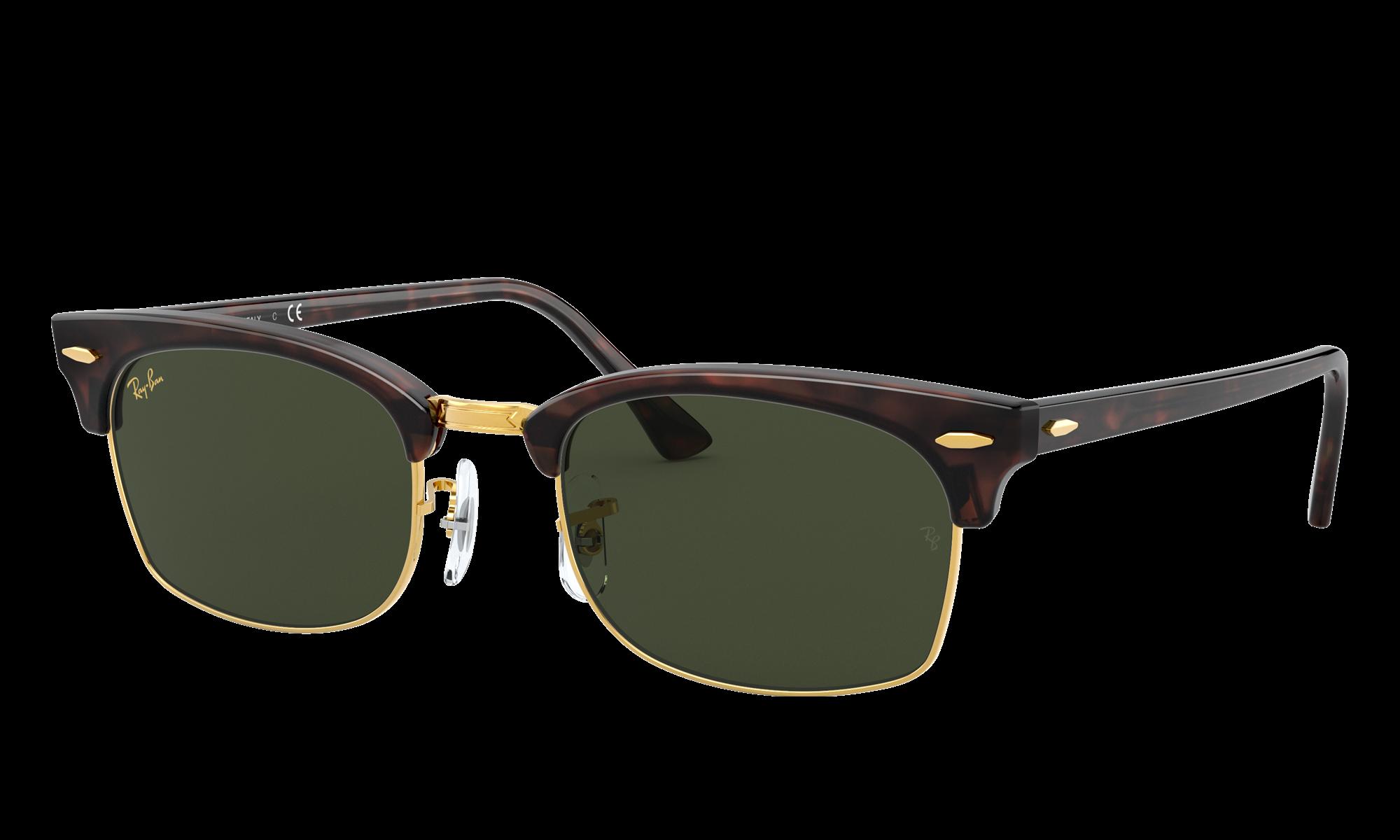 Retro Sunglasses | Vintage Glasses | New Vintage Eyeglasses Ray-Ban Unisex Clubmaster Square Legend Gold Tortoise Size Standard $154.00 AT vintagedancer.com