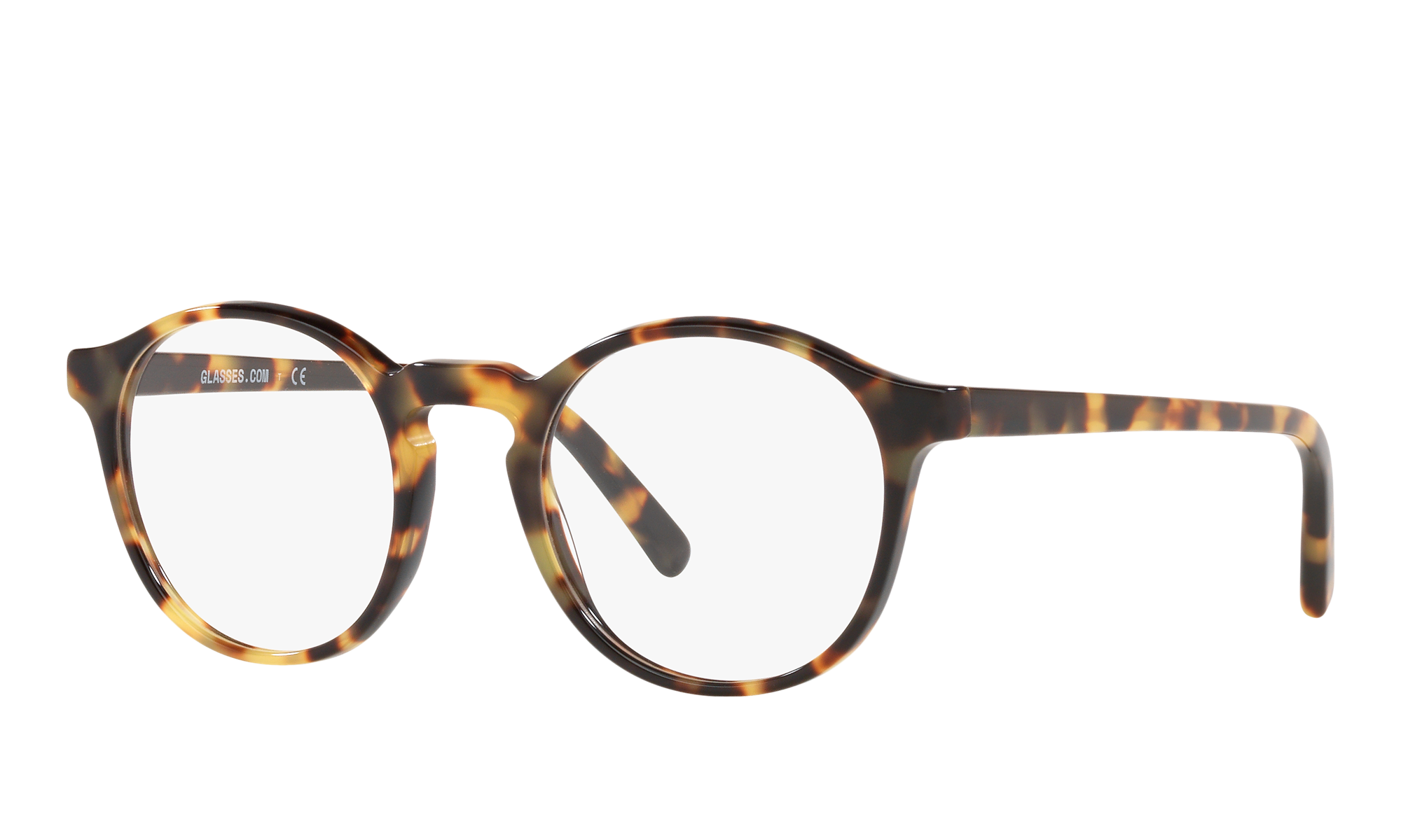Retro Sunglasses | Vintage Glasses | New Vintage Eyeglasses GLASSES.COM Unisex Gl006 Round And Round Tortoise Size Standard $55.00 AT vintagedancer.com